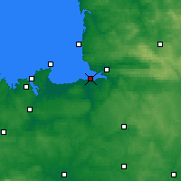 Nearby Forecast Locations - Мон-Сен-Мишель - карта