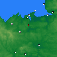 Nearby Forecast Locations - Динан - карта