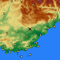 Nearby Forecast Locations - Драгиньян - карта