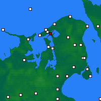 Nearby Forecast Locations - Frederiksværk - карта