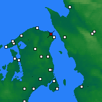 Nearby Forecast Locations - Hellebæk - карта