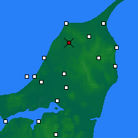 Nearby Forecast Locations - Hjørring - карта