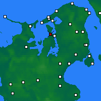 Nearby Forecast Locations - Jægerspris - карта