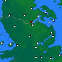 Nearby Forecast Locations - Kruså - карта