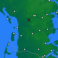 Nearby Forecast Locations - Lintrup Sogn - карта