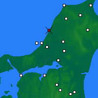 Nearby Forecast Locations - Løkken - карта