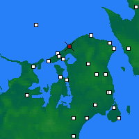 Nearby Forecast Locations - Tisvilde - карта