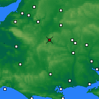 Nearby Forecast Locations - Warminster - карта