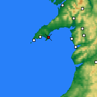 Nearby Forecast Locations - Abersoch - карта