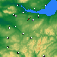 Nearby Forecast Locations - Bathgate - карта