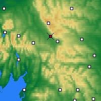 Nearby Forecast Locations - Pennines/N - карта