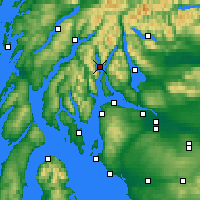 Nearby Forecast Locations - Loch Goil - карта