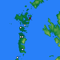 Nearby Forecast Locations - Lochmaddy - карта