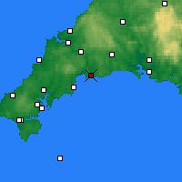 Nearby Forecast Locations - Fowey - карта
