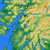 Nearby Forecast Locations - Ballachulish - карта