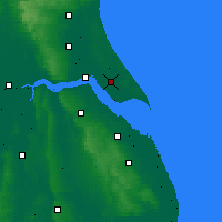Nearby Forecast Locations - Burstwick - карта