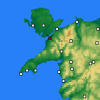 Nearby Forecast Locations - Caernarfon - карта