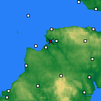 Nearby Forecast Locations - N-Devon - карта