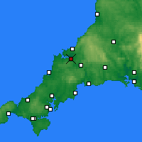 Nearby Forecast Locations - Wadebridge - карта