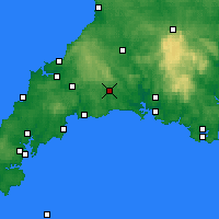 Nearby Forecast Locations - Liskeard - карта