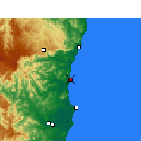 Nearby Forecast Locations - Nambucca Heads - карта