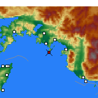 Nearby Forecast Locations - Фетхие - карта
