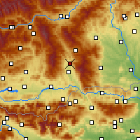 Nearby Forecast Locations - Вольфсберг - карта