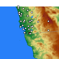 Nearby Forecast Locations - San Diego AP/B - карта