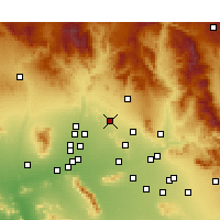 Nearby Forecast Locations - Phoenix Deer V. - карта