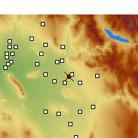 Nearby Forecast Locations - Mesa AFB - карта