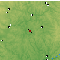 Nearby Forecast Locations - Zanesville - карта