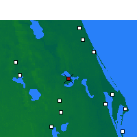 Nearby Forecast Locations - Orlando AP/S - карта