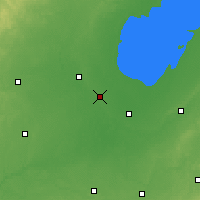 Nearby Forecast Locations - Saginaw - карта