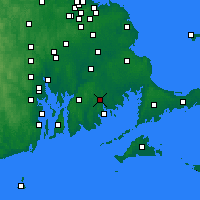 Nearby Forecast Locations - Нью-Бедфорд - карта