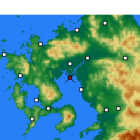 Nearby Forecast Locations - Saga AP - карта