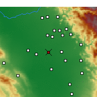 Nearby Forecast Locations - Hanford - карта