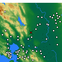 Nearby Forecast Locations - Vacaville - карта