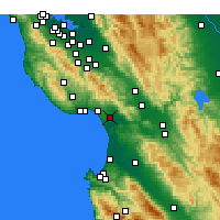 Nearby Forecast Locations - Watsonville - карта