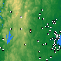 Nearby Forecast Locations - Fitchburg - карта