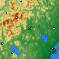 Nearby Forecast Locations - Fryeburg - карта