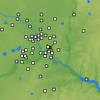 Nearby Forecast Locations - Saint Paul - карта