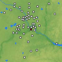Nearby Forecast Locations - St Paul South - карта