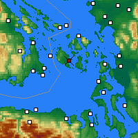 Nearby Forecast Locations - Friday Harbor - карта
