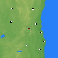 Nearby Forecast Locations - Waukesha - карта