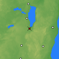 Nearby Forecast Locations - Fond Du Lac - карта