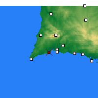 Nearby Forecast Locations - Лагуш - карта