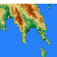 Nearby Forecast Locations - Gytheio - карта