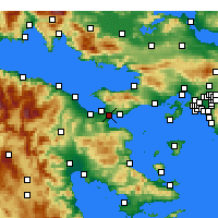 Nearby Forecast Locations - Isthmia - карта