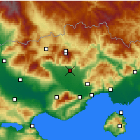 Nearby Forecast Locations - Драма - карта