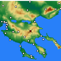 Nearby Forecast Locations - Arnaia - карта